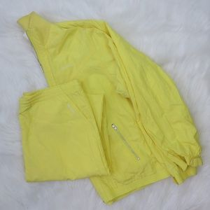Reebok Yellow Vintage 80's Tennis Track Suit